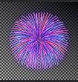 festive color fireworks christmas firecracker lig vector image vector image