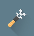 flat coffee machine wrench icon vector image vector image