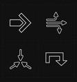 flat modern arrows vector image