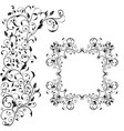 floral decorative frame with background ornament vector image vector image
