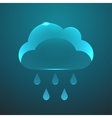 glass rain icon Eps10 vector image vector image