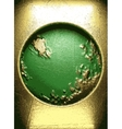 gold on green background vector image vector image