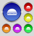 Hamburger icon sign Round symbol on bright vector image vector image