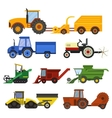 Harvester machine set vector image