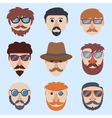 Hipster boy faces vector image