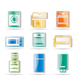 home electronics and equipment icon vector image vector image