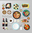 Infographic food business flat lay idea hipster vector image