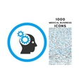 Intellect Gears Rounded Icon with 1000 Bonus Icons vector image vector image