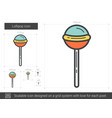 lollipop line icon vector image