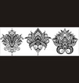 lotus icons set vector image vector image