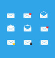 Mailbox icons set vector image