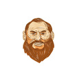 Man Bearded Face Retro vector image vector image