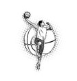 mens basketball vector image vector image