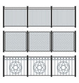 metal fence set on white background vector image