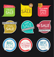 modern sale banners and labels collection 6 vector image