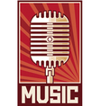 Music poster-microphone vector image vector image