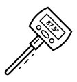 one bar thermometer icon outline style vector image vector image