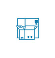 package for merchandise linear icon concept vector image vector image