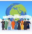 people from world religions flat composition vector image vector image