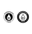 phosphate free icon phosphate free product label vector image
