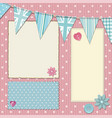 pink polka dot srapbooking background vector image vector image