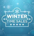 Plate with winter sale five stars vector image vector image
