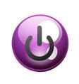 power button icon start symbol vector image vector image