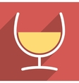 Remedy Glass Flat Longshadow Square Icon vector image