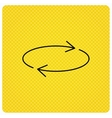 Repeat icon Full rotation sign vector image