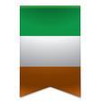 Ribbon banner - irish flag vector image vector image
