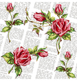 rose pattern on journal vector image vector image
