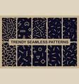 set memphis seamless patterns fashion 80-90s vector image vector image