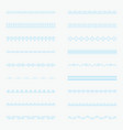 set of horizontal isolated lace borders for design vector image vector image
