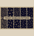 set of memphis seamless patterns fashion 80-90s vector image