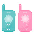 set of two baby monitors isolated on a white vector image
