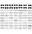 silhouettes eyeglasses vector image