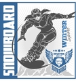 Snowboarding emblem labels and designed elements vector image