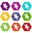 star clothes button icons set 9 vector image vector image