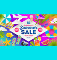 summer sale promotion banner vector image vector image