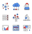 Web services line icons set
