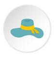 woman hat icon circle vector image vector image