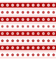 set of red and white flower icons vector image