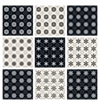 set of black and white seamless patterns vector image
