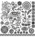 Tribal vintage ethnic pattern set