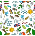Agriculture science genetics seamless pattern
