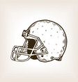american football equipment engraving vector image vector image