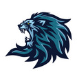 angry lion roaring head logo mascot vector image vector image