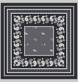 bandana paisley square print design vector image vector image