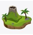 Beach design Palm tree icon Colorful vector image