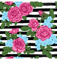 beautiful vintage seamless pattern with rosebuds vector image vector image